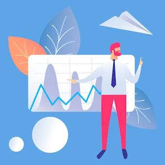 Geschäfts-darstellungs-flache vektor-illustration