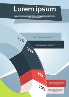 Geschäfts-finanzdiagramm-flieger-design-seite
