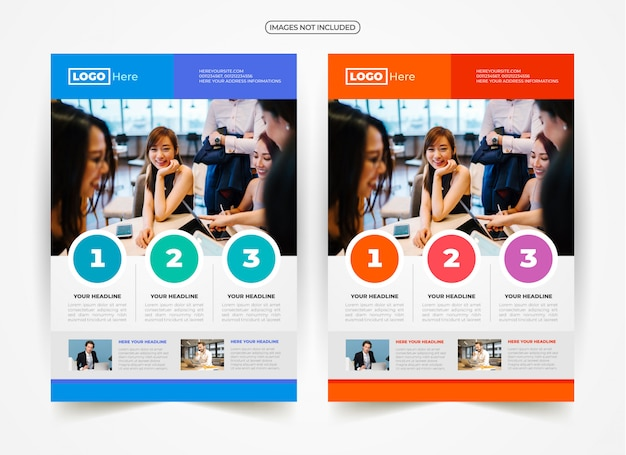 Geschäfts-flyer-anzeigen-design