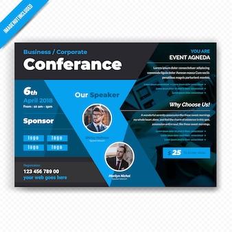 Geschäfts-horizontaler conference-flieger