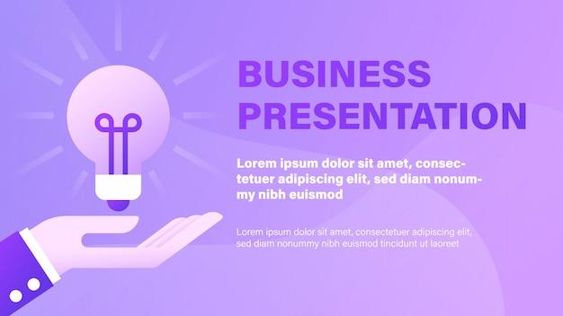 Geschäfts präsentation