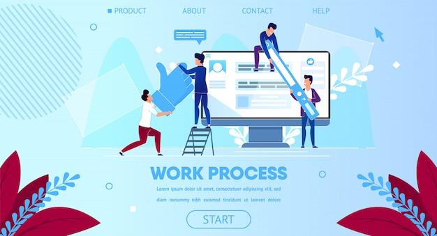 Geschäfts-team arbeiten zusammen, enormer computer-monitor