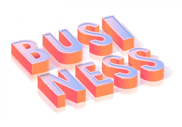 Geschäfts-text-titel-isometrische schablone
