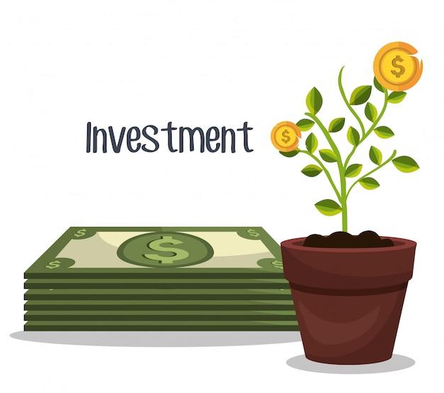 Geschäfts- und geldanlage