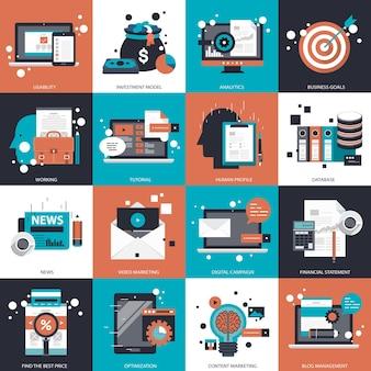 Geschäfts- und technologiesetillustration