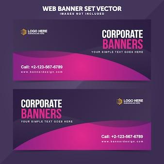 Geschäfts-web-fahnen-gesetzte vektor-hintergrund-schablonen