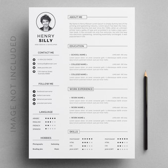 Geschäfts-zusammenfassung mit grauen details und weißer hintergrundschablone