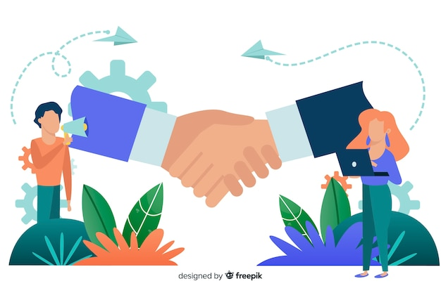 Geschäftsabkommenkonzepthintergrund