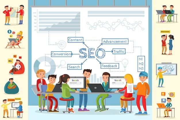 Geschäftsanalyse-infografik-konzept