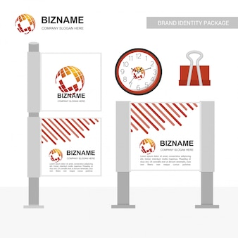 Geschäftsanzeigenfahnen-designvektor