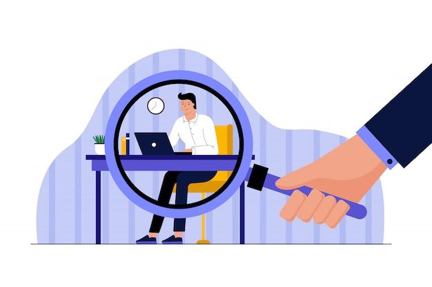 Geschäftsarbeit, beobachtungsdatenschutzkonzept.