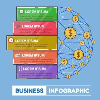 Geschäftsarbeit infographic und netzgeld