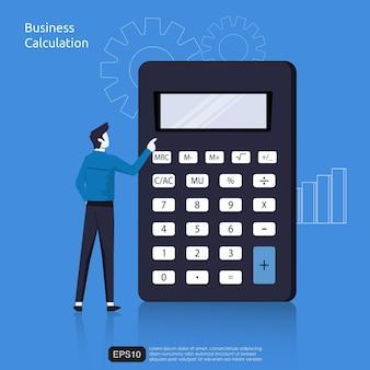 Geschäftsberechnungskonzept
