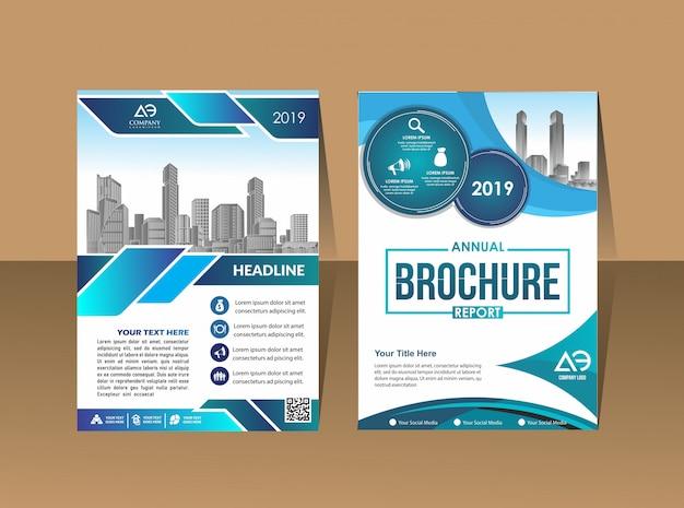 Geschäftsbericht-broschüre für geschäftsberichte mit geometrischem design