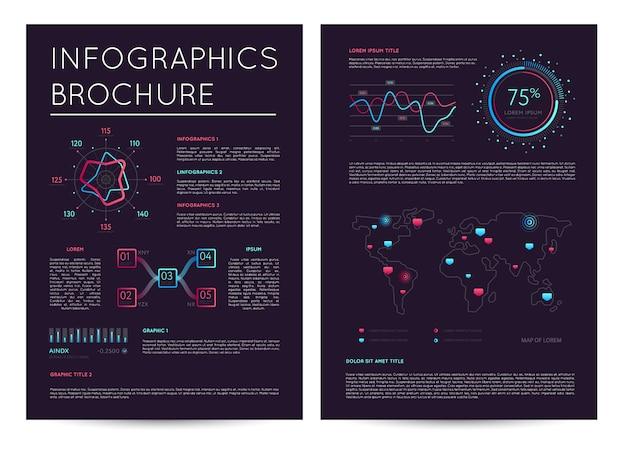 Geschäftsbericht mit verschiedenen infografiken