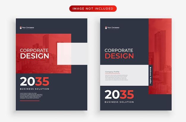 Geschäftsbericht moderne rote flyer-design-vorlage
