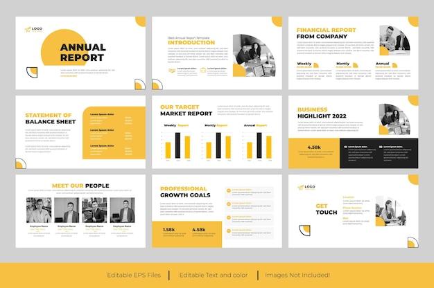 Geschäftsbericht powerpoint-präsentation oder präsentationsfolie des geschäftsberichts design