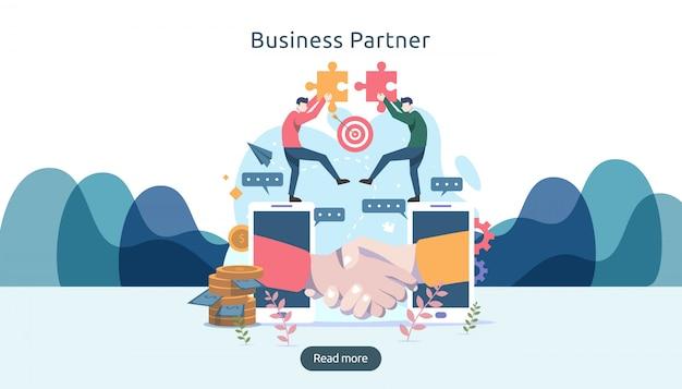 Geschäftsbeziehung beziehung konzept