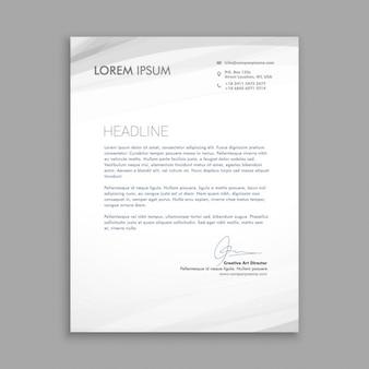 Geschäftsbrief mit grauen wellen