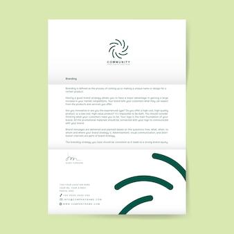 Geschäftsbrief mit logo