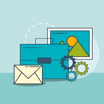 Geschäftsbriefkasten e-mail-foto digitales marketing