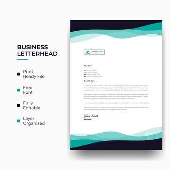 Geschäftsbriefkopf oder abstrakter moderner firmenbriefkopf