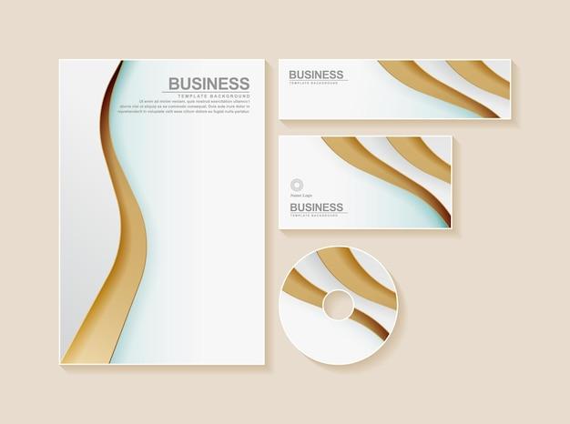 Geschäftsbriefpapier in der farbe gold