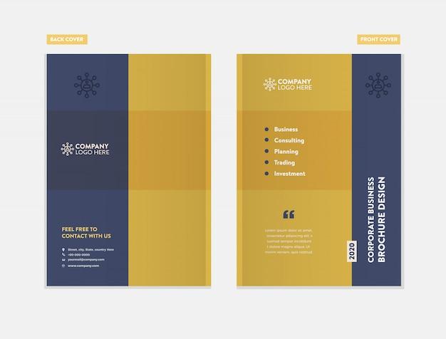Geschäftsbroschüre cover design