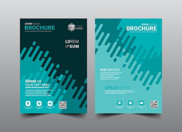Geschäftsbroschüre cover layout template-design.