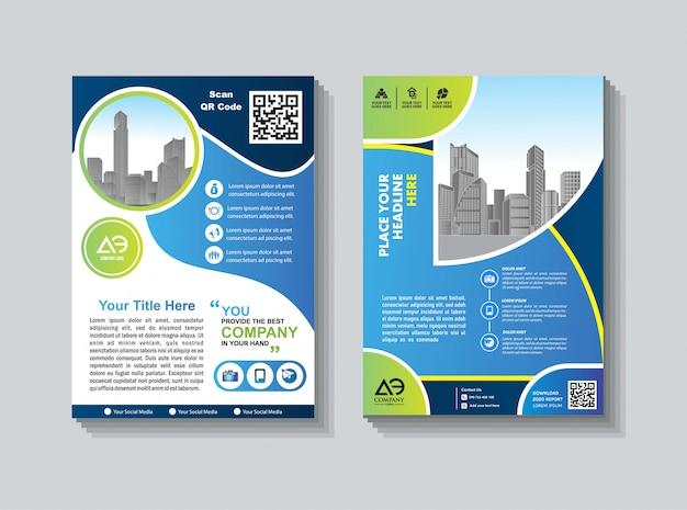 Geschäftsbroschüre flyer design jahresbericht abdeckung