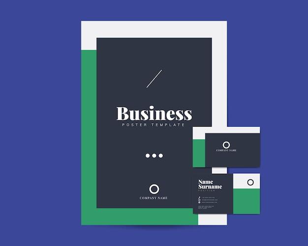 Geschäftsbroschüre und visitenkartenvorlagen