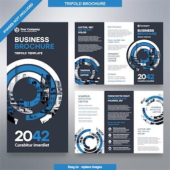 Geschäftsbroschüre vorlage in dreifach gefaltetem layout.
