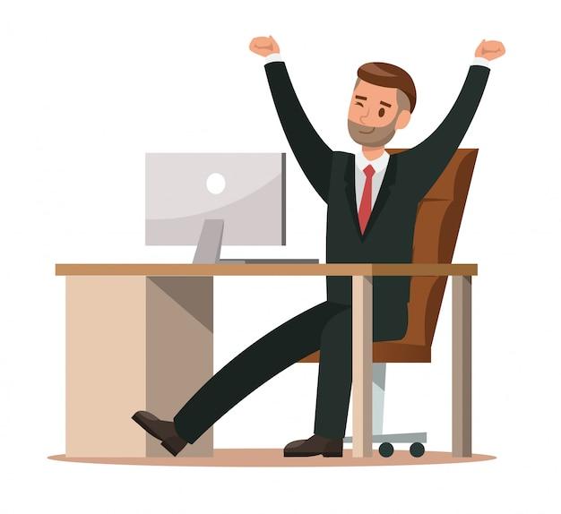 Geschäftscharaktere, die im büro arbeiten