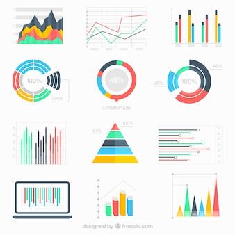 Geschäftsdaten infografik