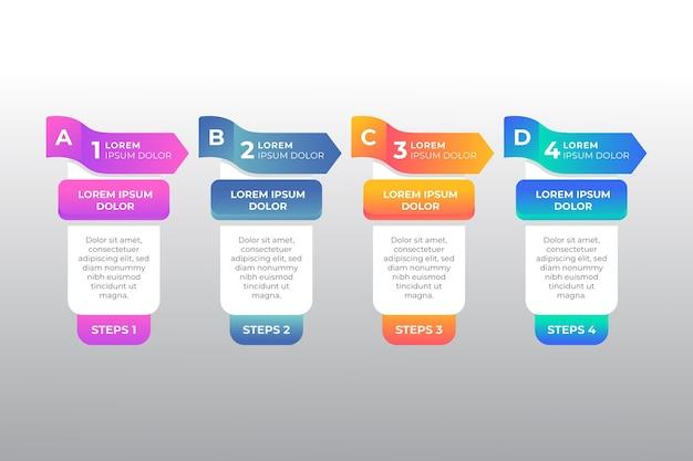 Geschäftsdatenvisualisierung mit infografik und text