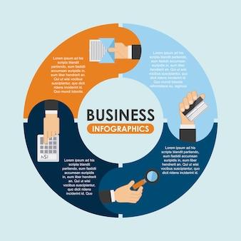 Geschäftsdesign über blauer hintergrundvektorillustration