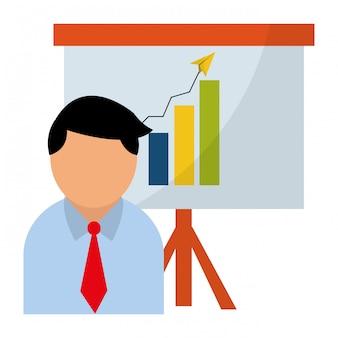 Geschäftsdiagramm und -gewinne