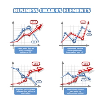 Geschäftsdiagrammelemente für infographics