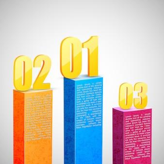 Geschäftsdiagrammvorlage mit informationen und zahlen, infografik