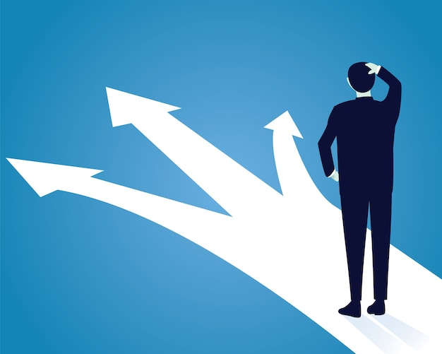 Geschäftsentscheidungs-konzept. verwirren, um zu wählen