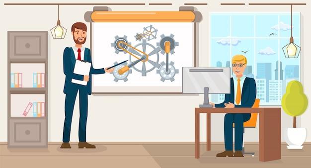 Geschäftsentwicklung. flache vektor-illustration.