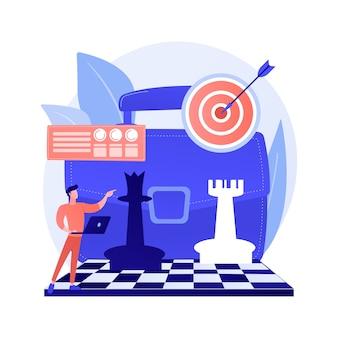 Geschäftsentwicklungsstrategie. marketing-werbekampagne, unternehmens-pr, erfolgsstrategie. unternehmensförderungsplanung, zielsetzung.