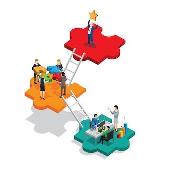Geschäftserfolg isometrisch