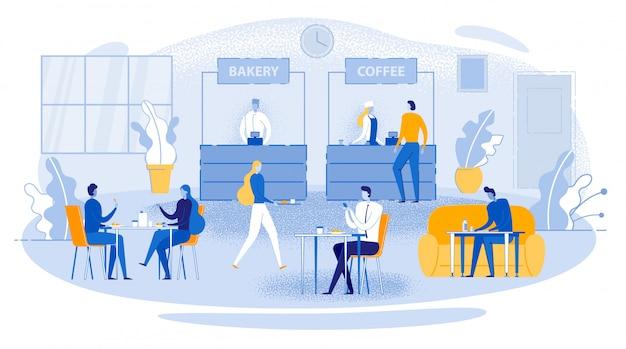 Geschäftsessen-büroangestellter sit table eat drink