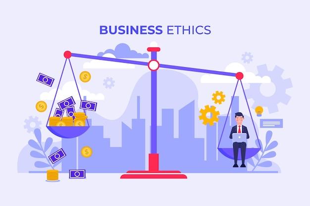 Geschäftsethik-konzept