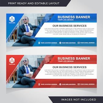 Geschäftsfahnen-schablonendesign