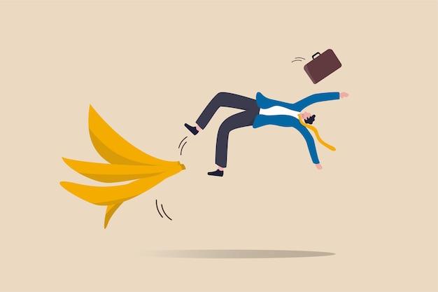 Geschäftsfehler oder unfall, versicherung, katastrophe ereigneten sich plötzlich ohne vorwarnung oder risiko