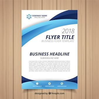 Geschäftsfliegerschablone mit abstraktem design