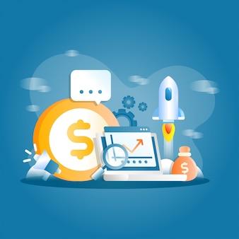 Geschäftsförderung illustration