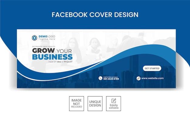 Geschäftsförderung und corporate social media banner